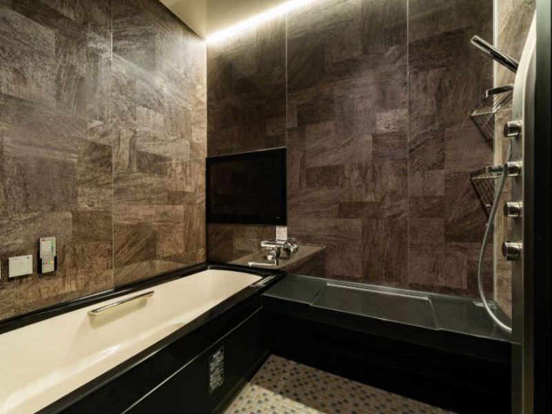 (西館セミスイートツイン)高級感溢れるバスルーム